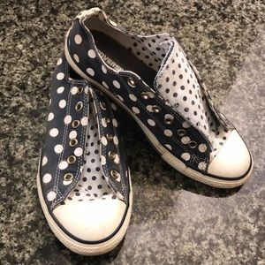 Converse All Stars Polka Dot Sneakers - Sz 5 (7W)